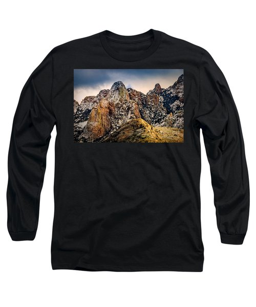 Long Sleeve T-Shirt featuring the photograph Snow On Peaks 45 by Mark Myhaver