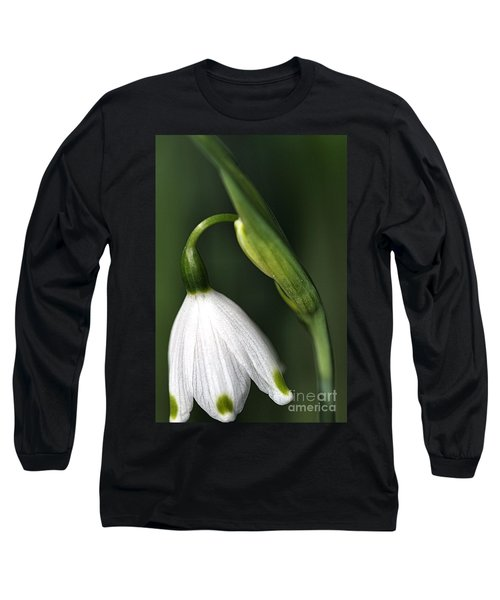 Long Sleeve T-Shirt featuring the photograph Snowdrop by Joy Watson