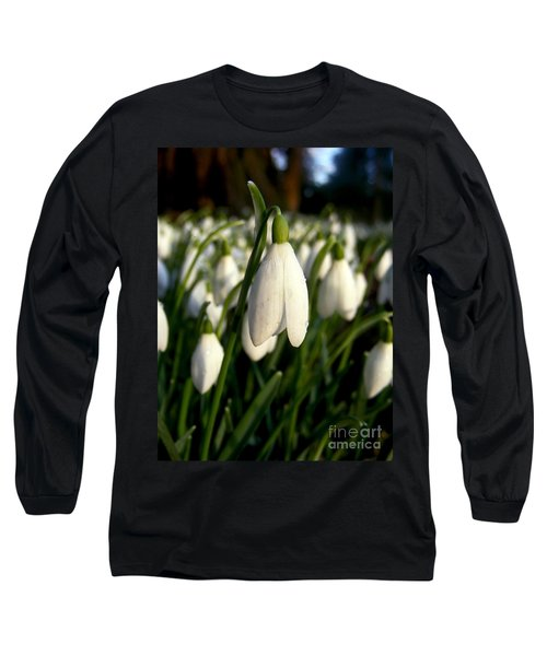 Long Sleeve T-Shirt featuring the photograph Snowdrops by Nina Ficur Feenan