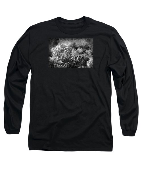 Long Sleeve T-Shirt featuring the photograph Snowfall In The Desert by Phyllis Denton