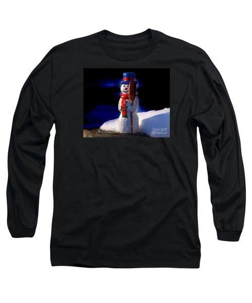 Snowman By George Wood Long Sleeve T-Shirt