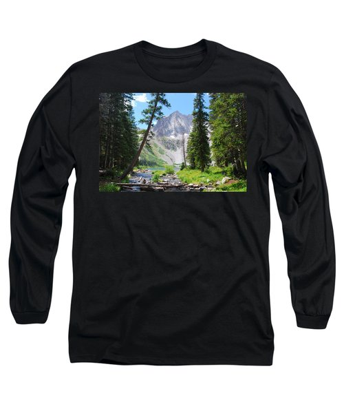 Snowmass Peak Landscape Long Sleeve T-Shirt