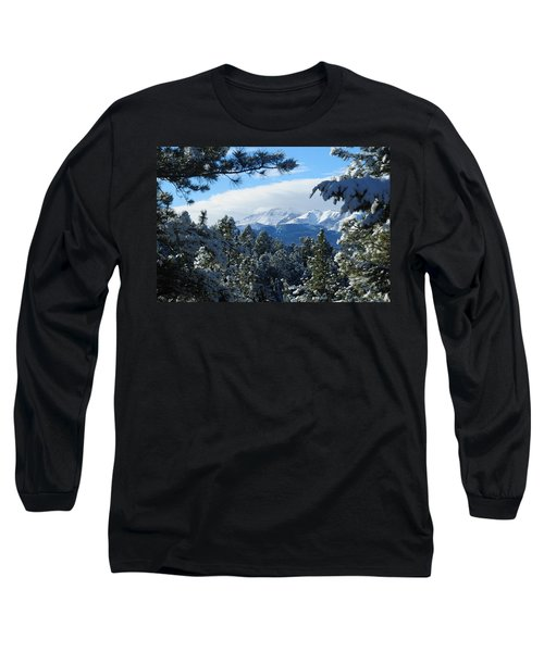 Snowy Pikes Peak Long Sleeve T-Shirt