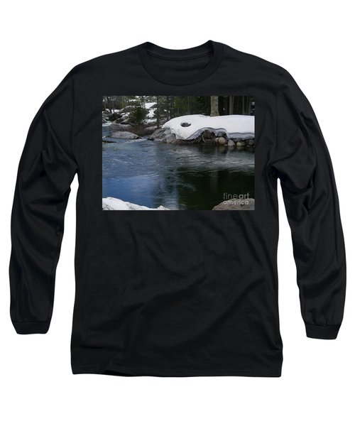 Long Sleeve T-Shirt featuring the photograph Snowy River Bend by Bobbee Rickard