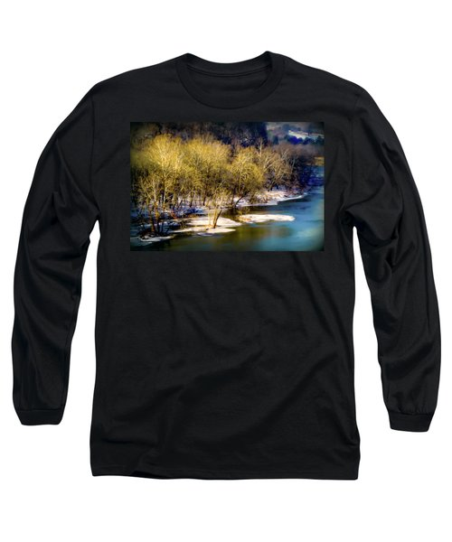 Snowy River Long Sleeve T-Shirt by Karen Wiles