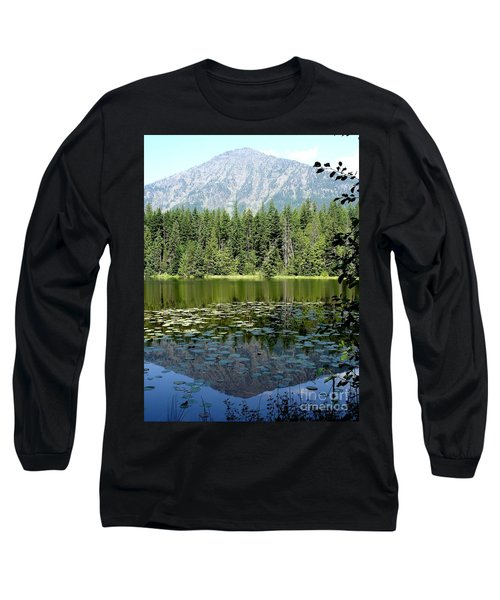 Long Sleeve T-Shirt featuring the photograph Snyder Lake Reflection by Kerri Mortenson