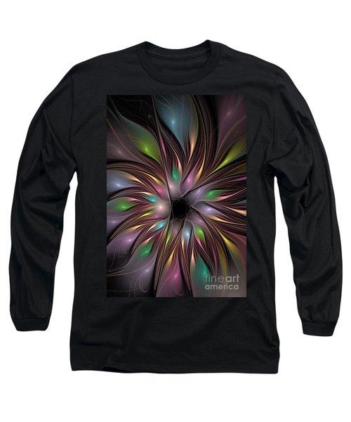 Soft Colors Of The Rainbow Long Sleeve T-Shirt by Deborah Benoit