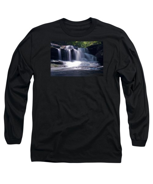 Soft Light Dunloup Falls Long Sleeve T-Shirt by Shelly Gunderson