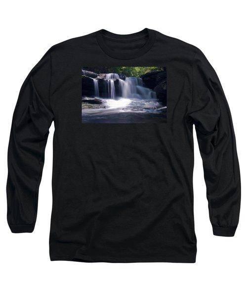 Soft Light Dunloup Falls Long Sleeve T-Shirt by Shelly Gunderson
