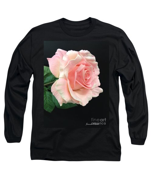 Long Sleeve T-Shirt featuring the photograph Soft Pink Rose 1 by Jeannie Rhode