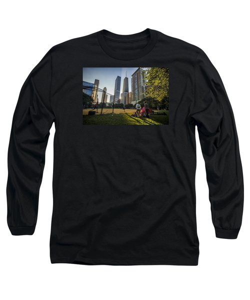 Softball By Skyscrapers Long Sleeve T-Shirt