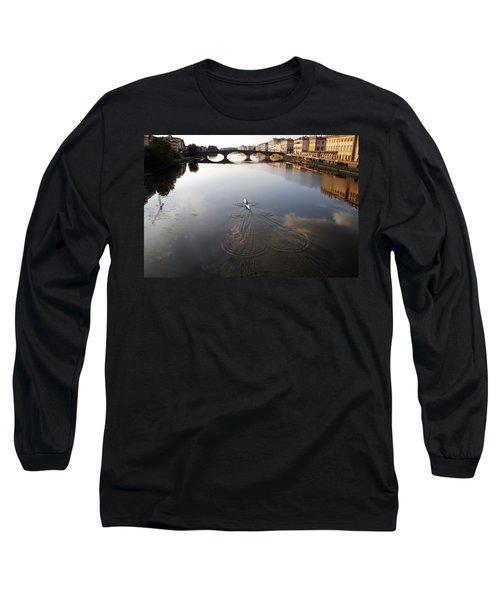 Solitary Sculler Long Sleeve T-Shirt