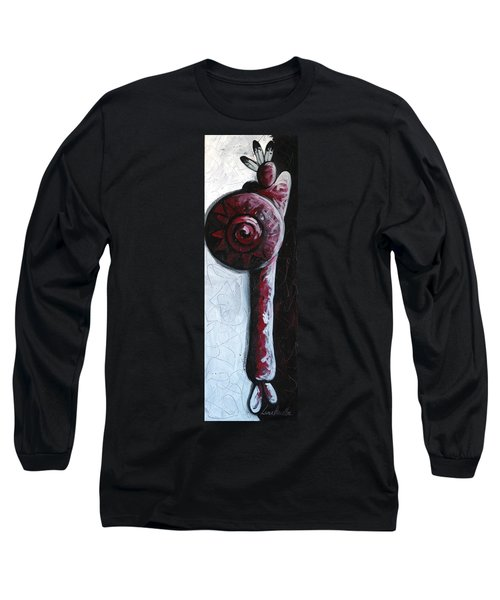 Long Sleeve T-Shirt featuring the painting Solo Indian by Lance Headlee