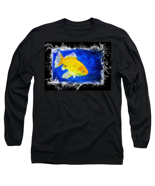 Blue Long Sleeve T-Shirt featuring the photograph Something Fishy by Aaron Berg