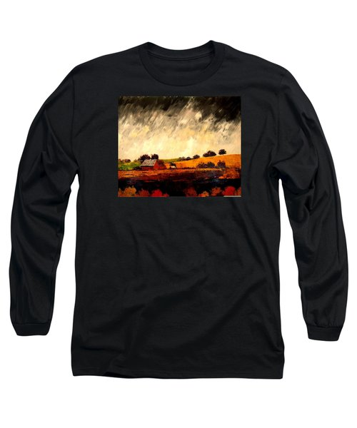 Somewhere Else Long Sleeve T-Shirt by William Renzulli