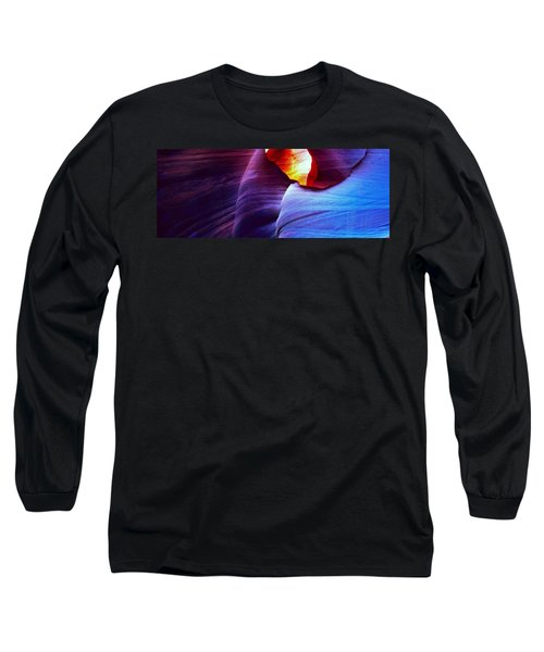 Long Sleeve T-Shirt featuring the photograph Somewhere In America Series - Blue In Antelope Canyon by Lilia D