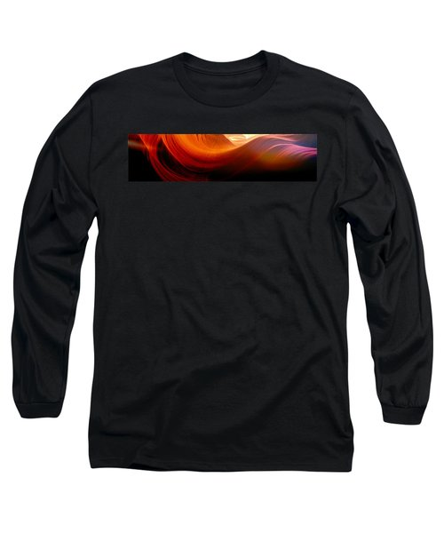 Long Sleeve T-Shirt featuring the photograph Somewhere In America Series - Red Waves In Antelope Canyon by Lilia D