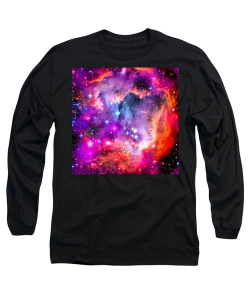 Space Image Small Magellanic Cloud Smc Galaxy Long Sleeve T-Shirt