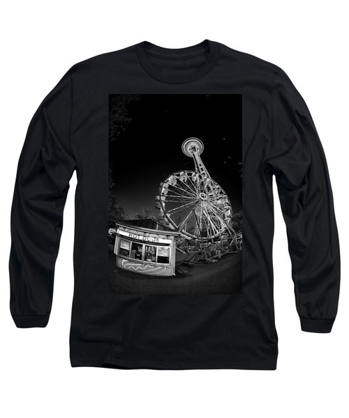 Space Needle Fights The End Of The World Long Sleeve T-Shirt
