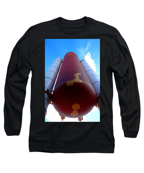 Space Shuttle Fuel Tank And Boosters Long Sleeve T-Shirt
