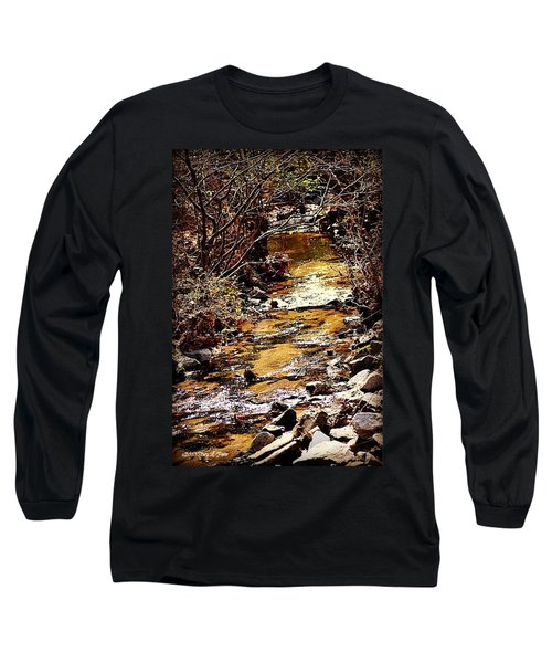 Long Sleeve T-Shirt featuring the photograph Sparkling Creek by Tara Potts