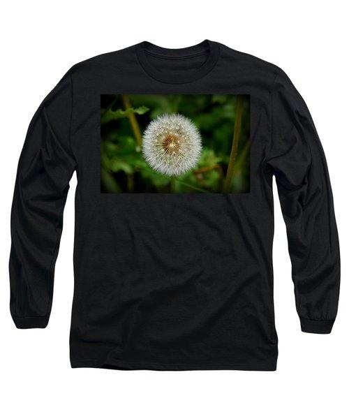 Long Sleeve T-Shirt featuring the photograph Sparkling Dandelion by Debra Martz
