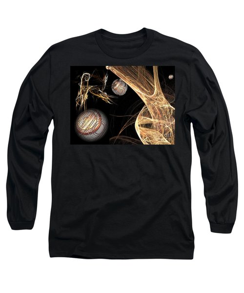 Long Sleeve T-Shirt featuring the digital art Sparkling Gold by Jacqueline Lloyd