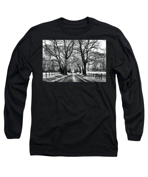 Sparks Lane During Winter Long Sleeve T-Shirt