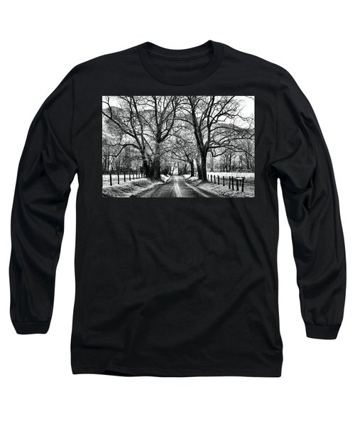 Sparks Lane During Winter Long Sleeve T-Shirt