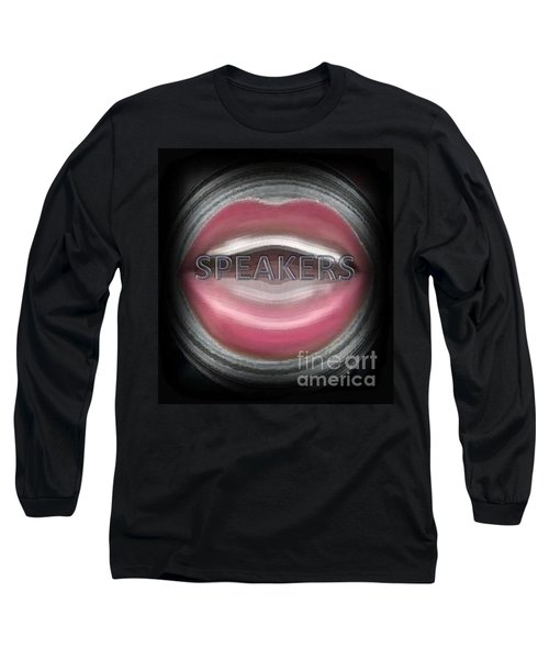Long Sleeve T-Shirt featuring the digital art Speakers by Catherine Lott
