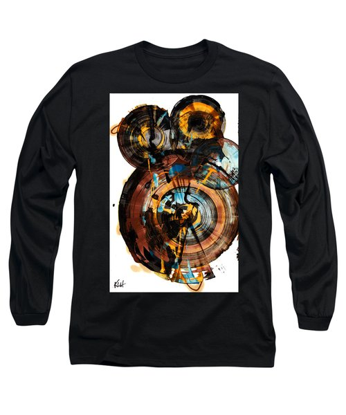 Long Sleeve T-Shirt featuring the painting Spherical Happiness Series - 994.042212 by Kris Haas