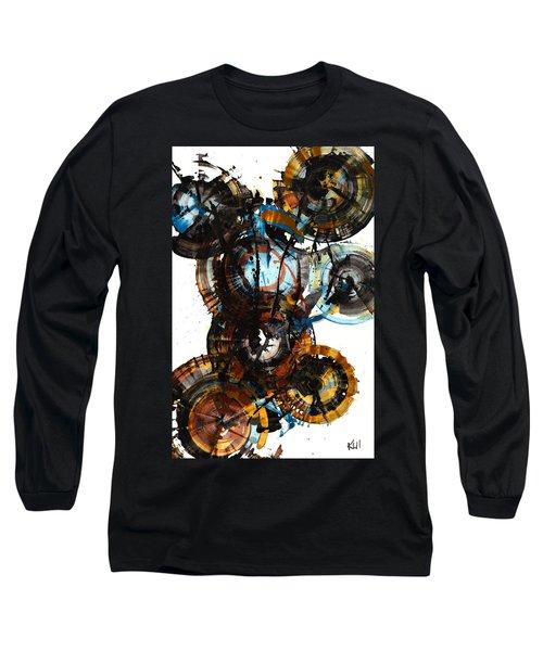 Long Sleeve T-Shirt featuring the painting Spherical Joy Series - 995.042212 by Kris Haas