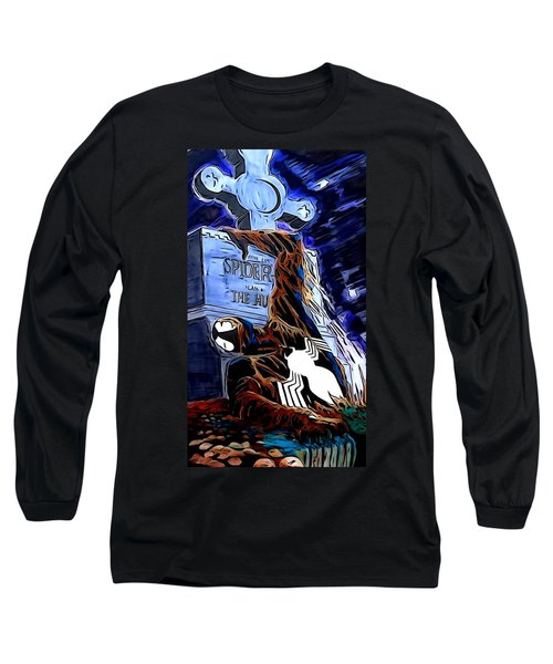 Spider Resurrection Painting Long Sleeve T-Shirt by Justin Moore