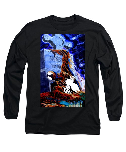 Spider Resurrection Pop Art Long Sleeve T-Shirt by Justin Moore