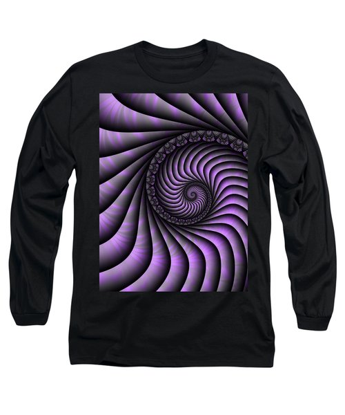 Spiral Purple And Grey Long Sleeve T-Shirt