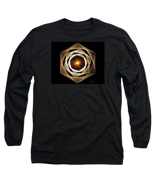Spiral Scalar Long Sleeve T-Shirt by Jason Padgett
