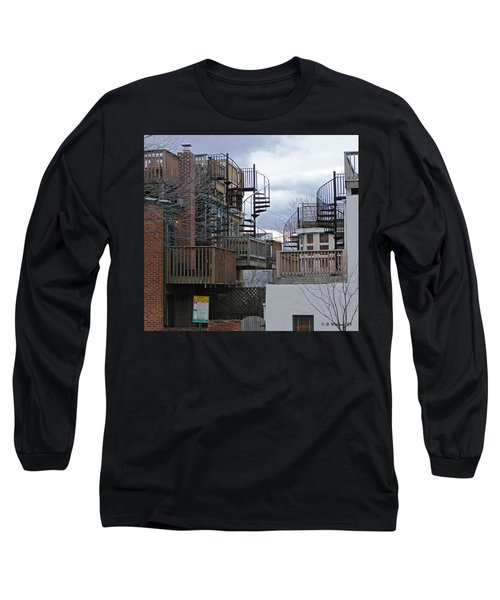 Long Sleeve T-Shirt featuring the photograph Spiral Stairs by Brian Wallace
