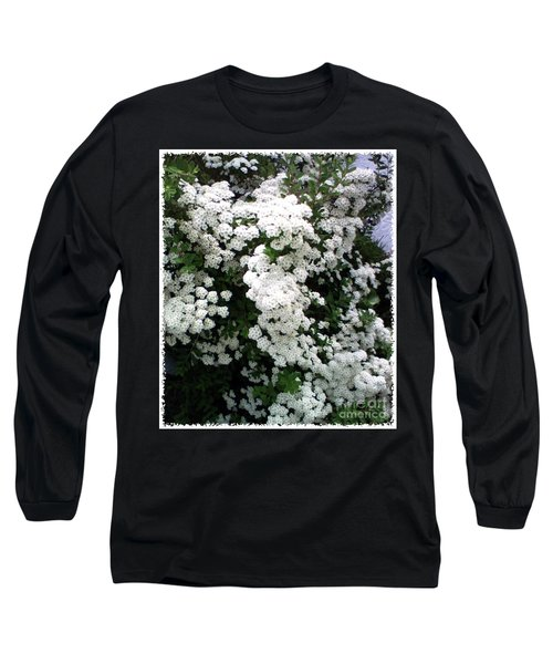 Spirea Bridal Veil Long Sleeve T-Shirt by Barbara Griffin