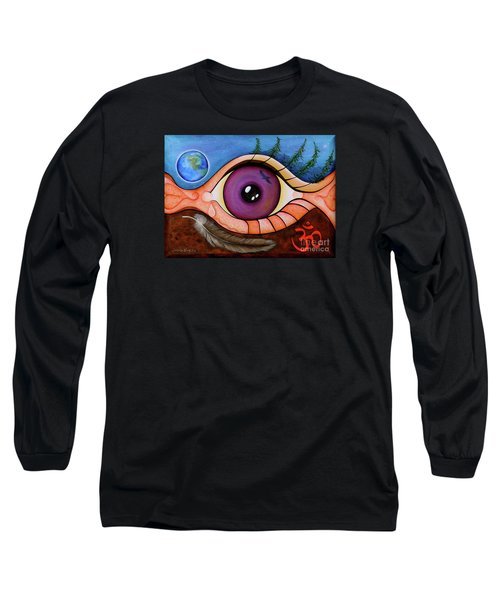 Long Sleeve T-Shirt featuring the painting Spirit Eye by Deborha Kerr