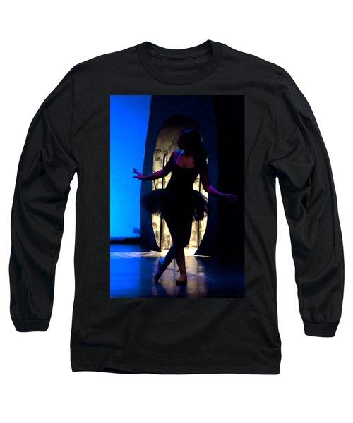 Spirit Of Dance 3 - A Backlighting Of A Ballet Dancer Long Sleeve T-Shirt