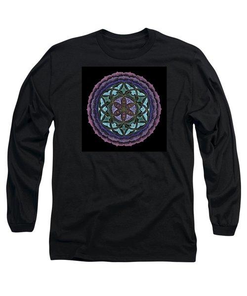 Long Sleeve T-Shirt featuring the painting Spiritual Heart by Keiko Katsuta
