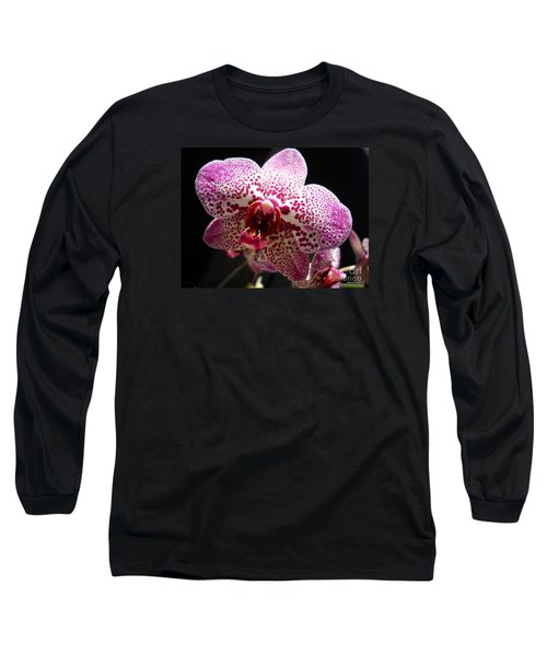 Long Sleeve T-Shirt featuring the photograph Spotted Purple Orchid by Ramona Matei