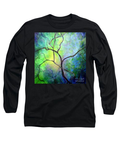 Long Sleeve T-Shirt featuring the painting Spring Catawba Tree by Jodie Marie Anne Richardson Traugott          aka jm-ART