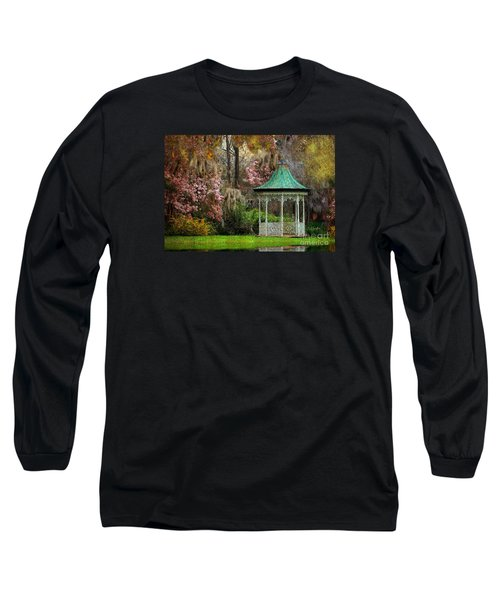 Long Sleeve T-Shirt featuring the photograph Spring Magnolia Garden At Magnolia Plantation by Kathy Baccari