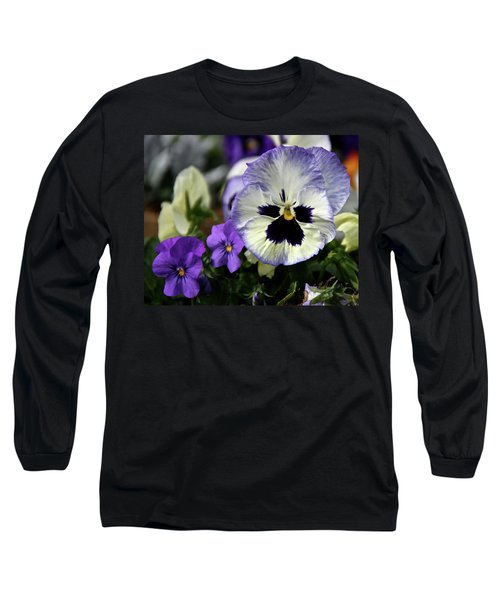 Spring Pansy Flower Long Sleeve T-Shirt
