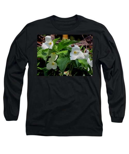 Springtime Trillium Long Sleeve T-Shirt by David T Wilkinson