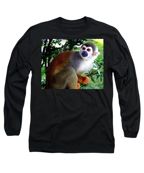 Squirrel Monkey Long Sleeve T-Shirt by Laurel Talabere