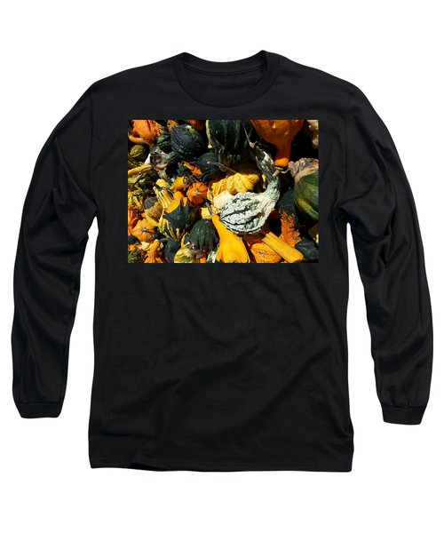 Squish Squash Long Sleeve T-Shirt by Caryl J Bohn