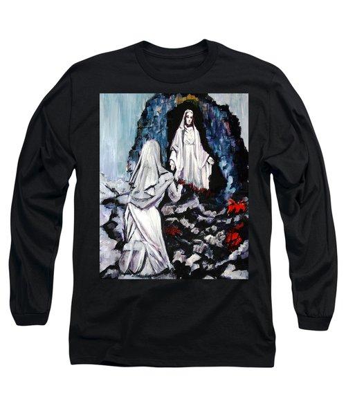 St. Bernadette At The Grotto Long Sleeve T-Shirt