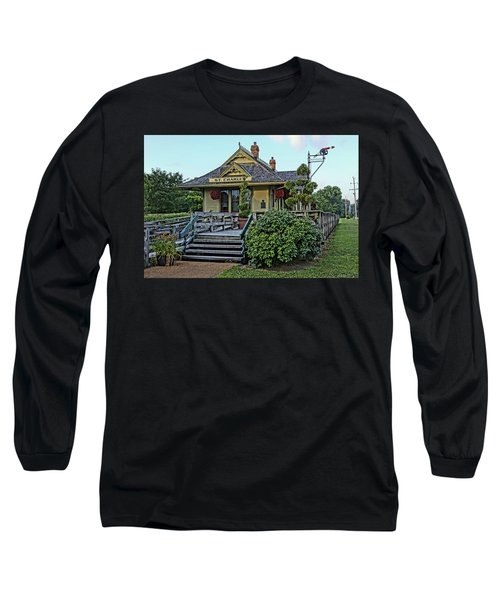 St Charles Station On The Katty Trail Look West Dsc00849 Long Sleeve T-Shirt by Greg Kluempers